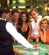 Blackjack Players playing perfect basic strategy